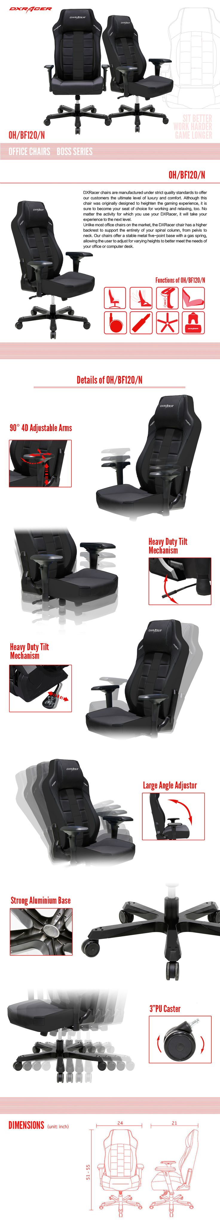 OH/BF120/N - Boss Series - Office Chairs  | DXRacer Official Website - Best Gaming Chair and Desk in the World