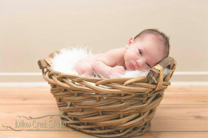 Beautiful newborn portrait by Willow Creek Studio. Jesse, 7 days new