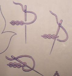 Ponto grilhão = ≠ Palestrina stitch? (1)                                                                                                                                                                                 Mais