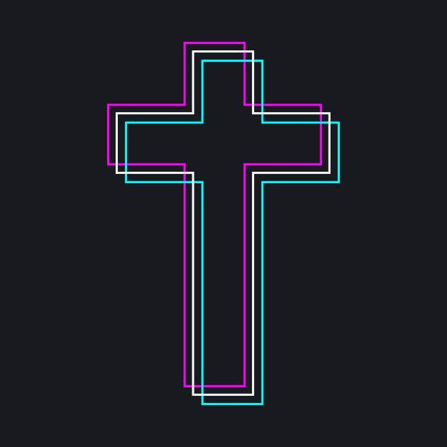 Christian Cross Vaporwave