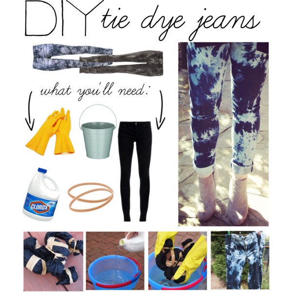 Diy bleached ombre jeans