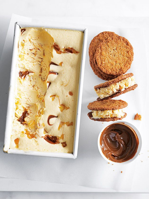 ginger caramel ice-cream sandwiches from donna hay