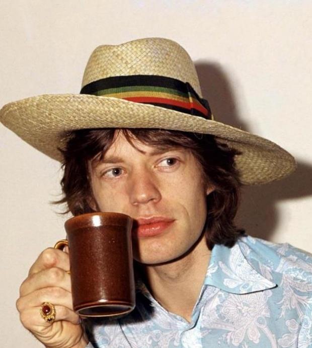 Mick Jagger: Head Gears, Coff Mugs, Straws Hats, Rolls Stones, Jagger Coff, Mornings Coff, Coffee Café, Celebrity Hats, Mick Jagger