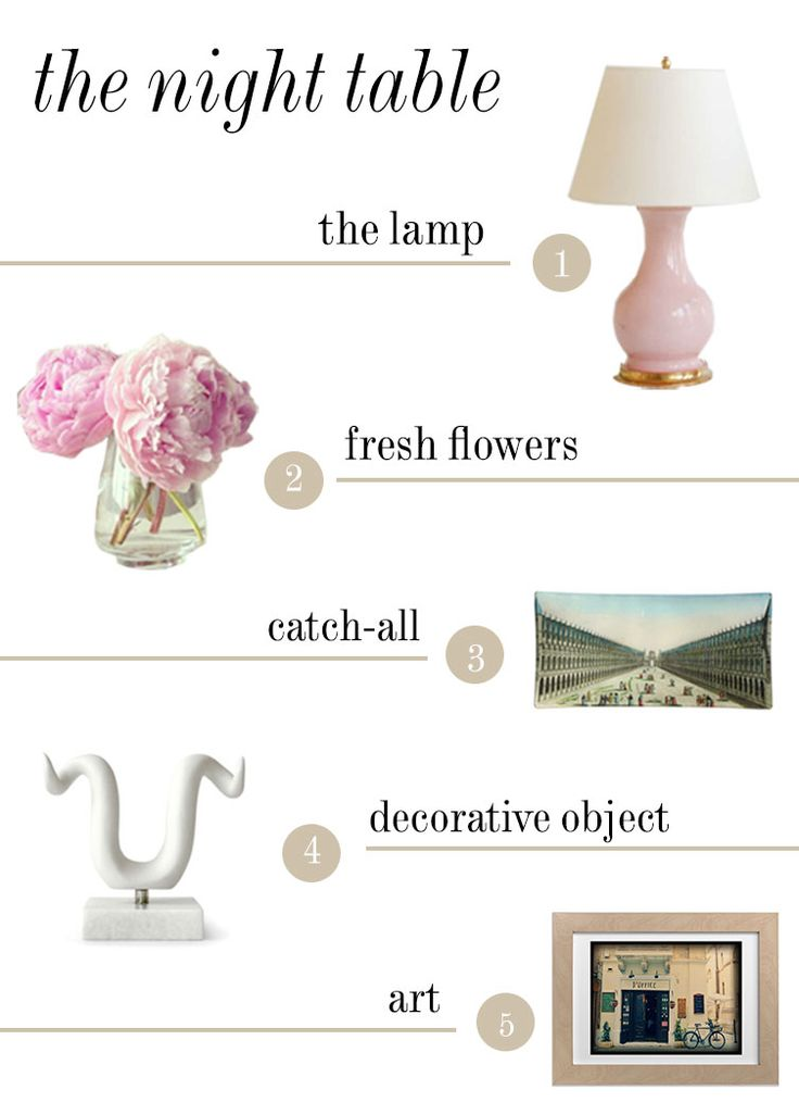 5 steps towards a stylish night table   Good Bones Great Pieces