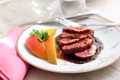 Duck Breast with Mango Sauce