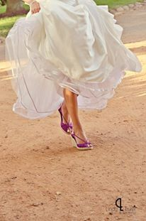 H & Kit's wedding - loved my purple shoes :)