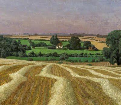 "John Aldridge, ""Stubble Field, Thaxted"" Essex (1968)"