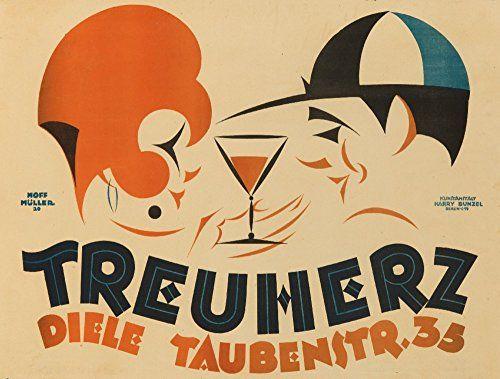 Treuherz Vintage Poster artist Hoffmuller France c 1920