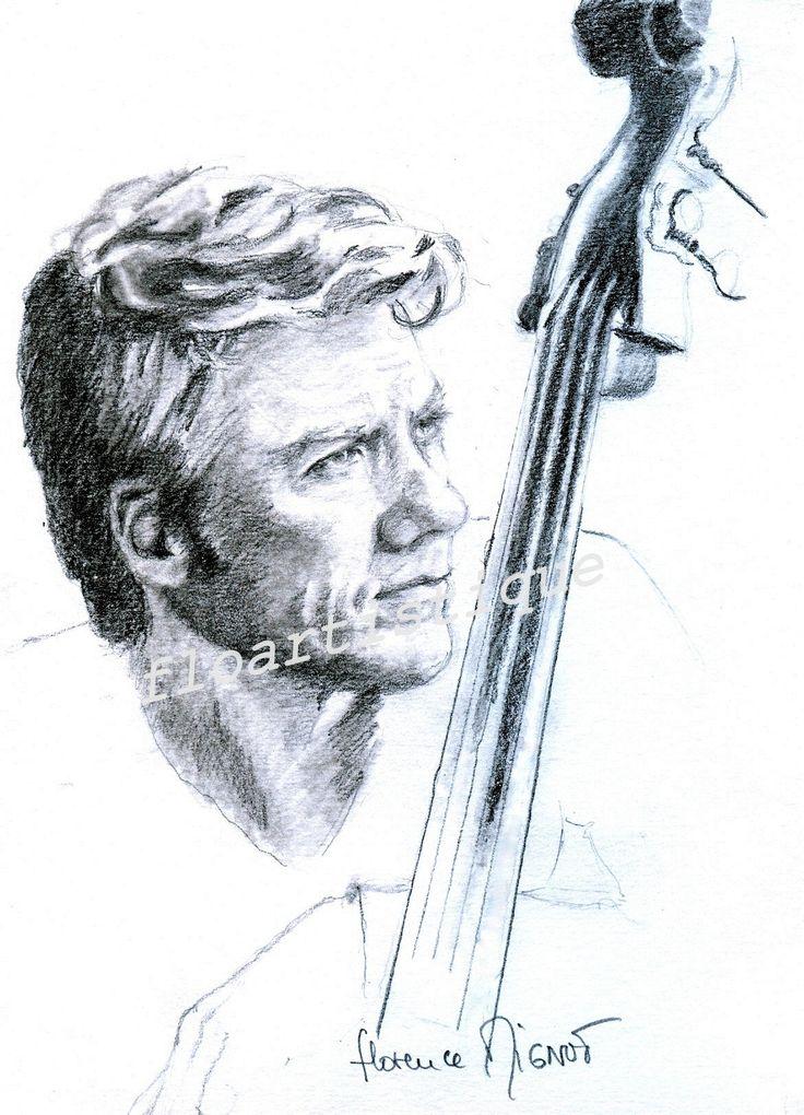 Portrait dessin fusain, Kyle EASTWOOD