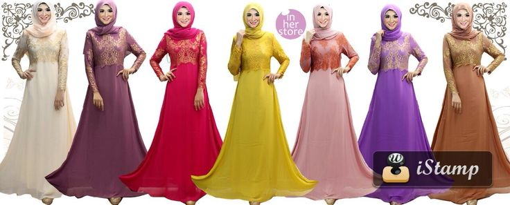 Gamis/Jubah Party by In Her Store Indonesia - Arsy Series Material : Chiffon Cerutti & Panel Lace Size : S – M – L – XL Retail Price : Rp 400 rb/pc (Include Tudung) Reseler Price : Rp 370rb/pc (min.3pcs, mix size & colours allowed) PIN : 75BD8849 Line : go2dika