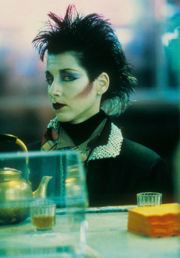Blade Runner in pictures: Jet black hair and pale skin provides an eerie look for one of JF Sebastian's creations.