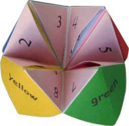 Fortune tellers, cootie catchers, whatever you called them!