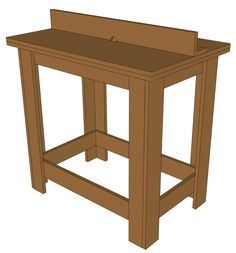 Learn how to build a router table in a couple of hours. It's easy and requires one sheet of MDF or plywood.