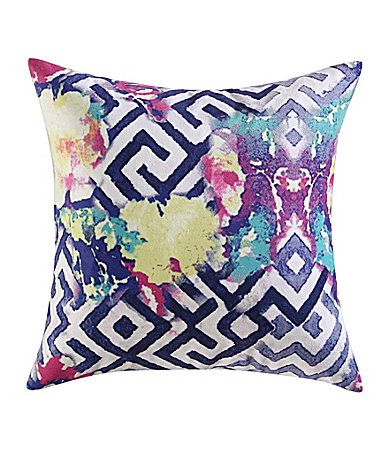 Poetic Wanderlust by Tracy Porter Florabella Geometric Floral Velvet and FauxSilk Square Feather Pillow #Dillards