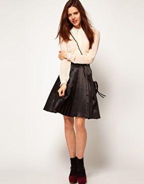ASOS Full Pleated Midi with Net Skirt