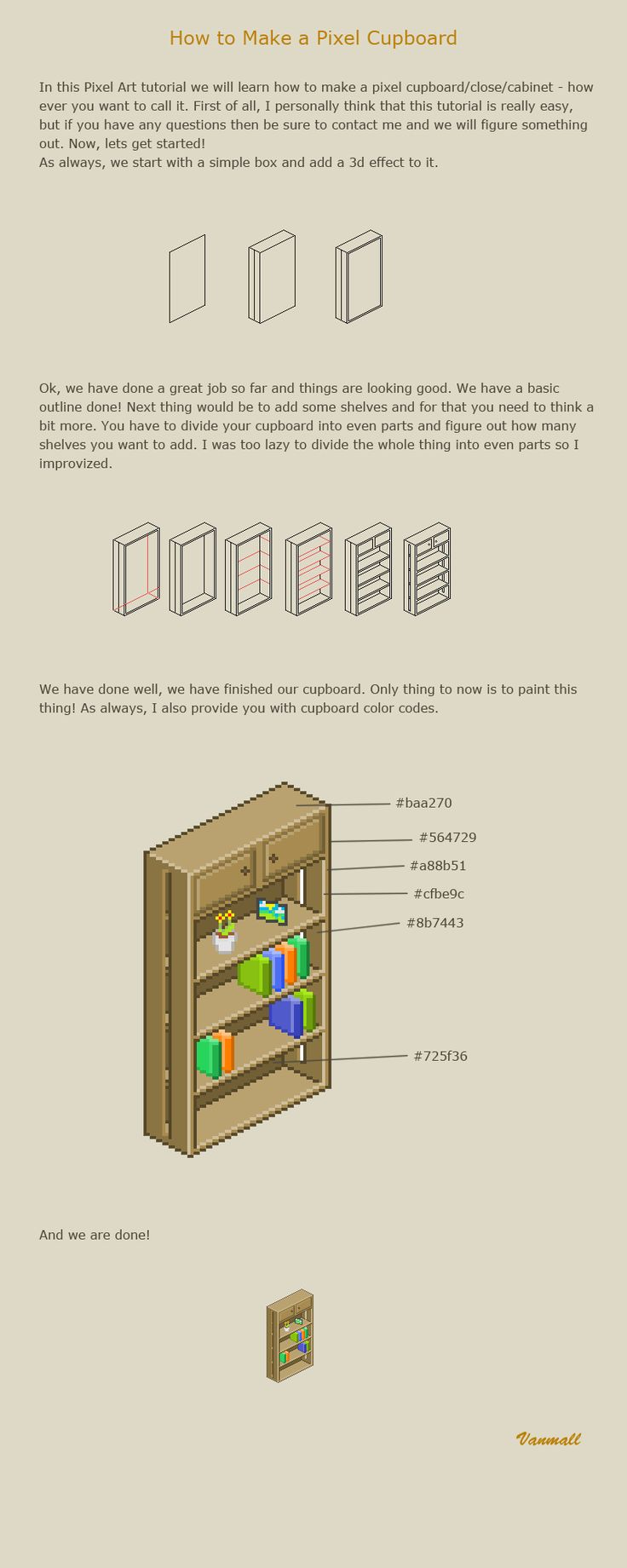 How to make a pixel cupboard by vanmall.deviantart.com on @deviantART