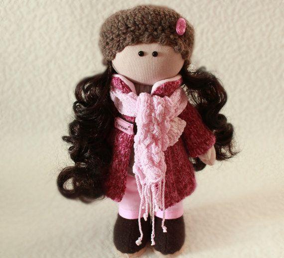 tilde bambola pezza bambola fatta a mano natale di DollsTalismans