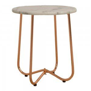 Marble & Copper Tiffany Side Table