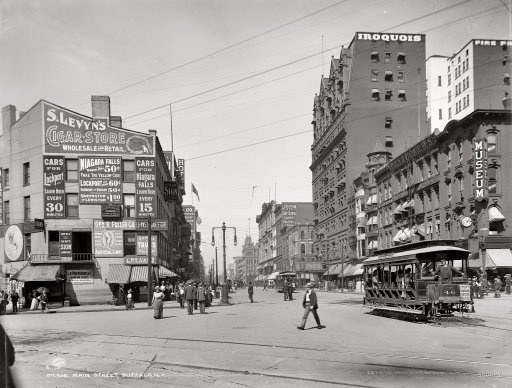 Main st in buffalo ny circa 1900