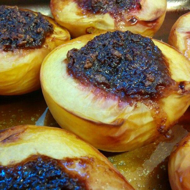 Baked peaches www.vallenuova.it