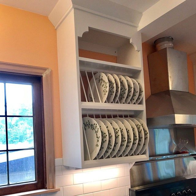 New Modern Cabinet Wood Plate Dish Rack Mugs Glasses Spice Shelf Kitchen Mug Tea Cup Shelf Organizer In 2020 Plate Racks Shelves Dish Racks