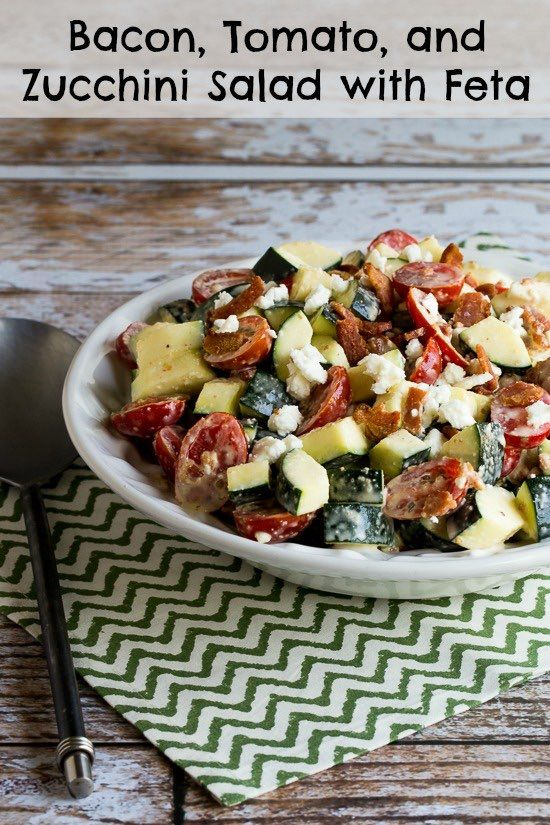 Bacon, Tomato, and Zucchini Salad with Feta - SBD1