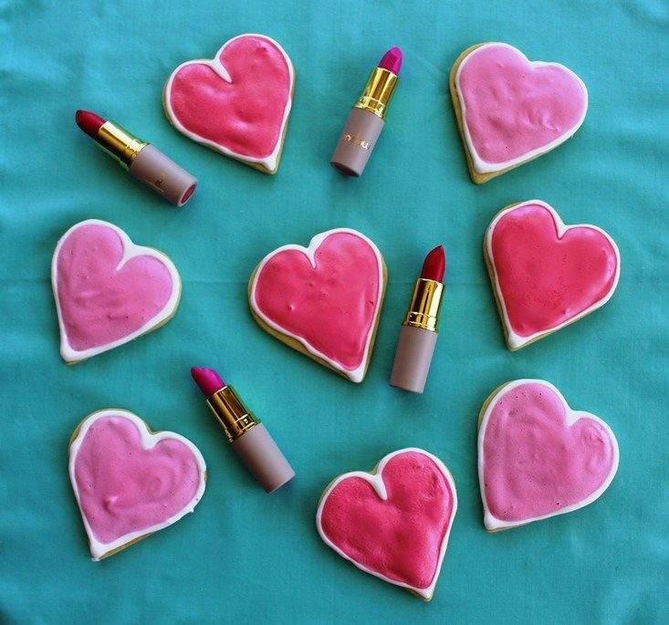 Valentine's Day Cookies + Lipstick Gifts - Miss Charlotte Cake
