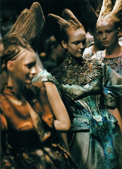 alien ladies in waiting / backstage at McQueen