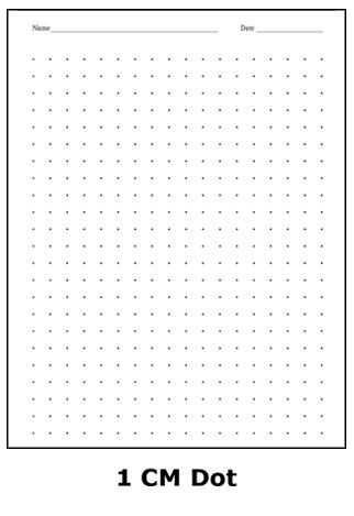 1 cm dot graph paper Math Graph