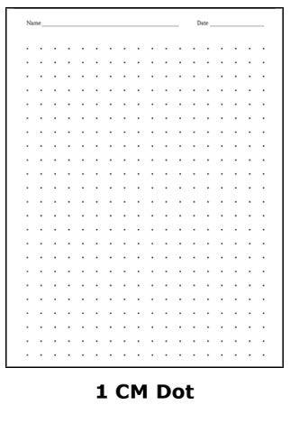 1 cm dot graph paper