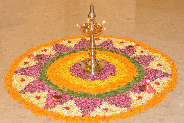 #Traditional #Colorful #Petals #Rangoli