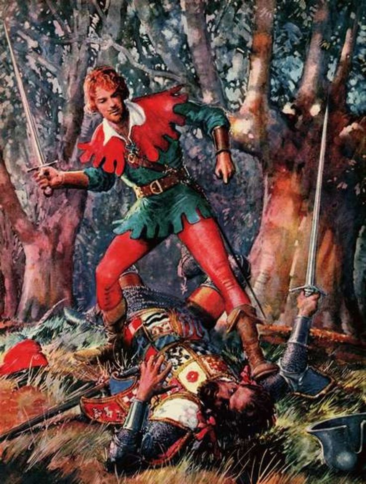 Robin Hood the Triumphant by John Millar Watt.