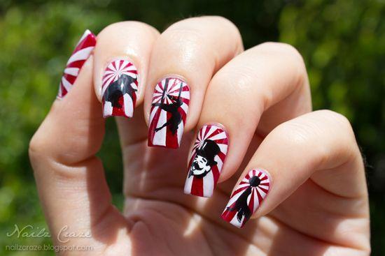 Circus from Nailz Craze #nail #nails #nailart