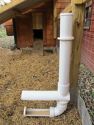 Automatic Gravity Feeder Rain Guard For Chicken Coop Hen Poultry