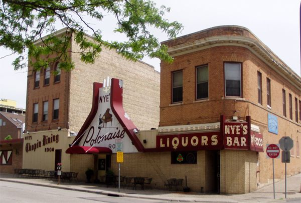 """Nye's Polonaise Room in """"Nordeast"""" Minneapolis--taken in 2006, polka bar on the right and main dining room middle and left."""