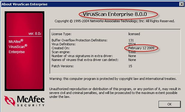 McAfee VirusScan Enterprise 8 8 Autoupdate failed COMMON