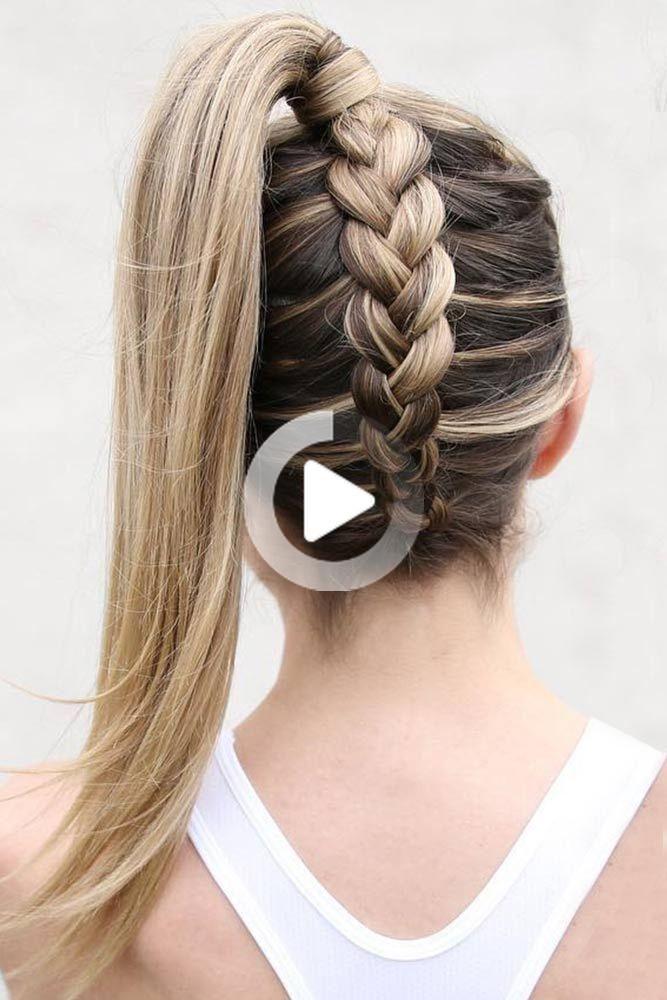 65 Charming Plecione fryzury, Popularne Style: Upside Down, Twisted korony i Milkmaid Ponytail #braids #updo #ponytail ❤️ Sprawdź naszą kolekcję łatwych do wykonania fryzur z Br ... #Braided #Charming #Hairstyles #plecionefryzury