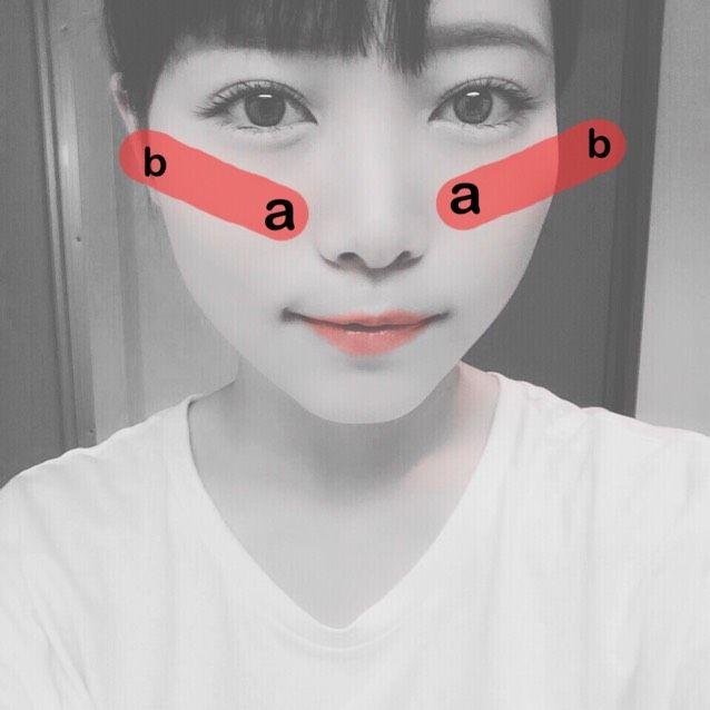 顔別のチークの入れ方の3枚目の画像