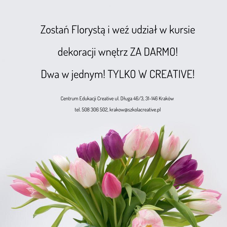 Florystyka w Centrum Edukacji Creative ZA DARMO!