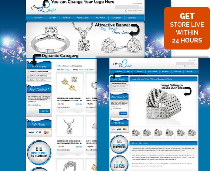 Wonderful Ebay Store Templates Ebay Shop Templates Ebay Htm Listing Template For Jewelry Condition New Ebay Banner Store Templates
