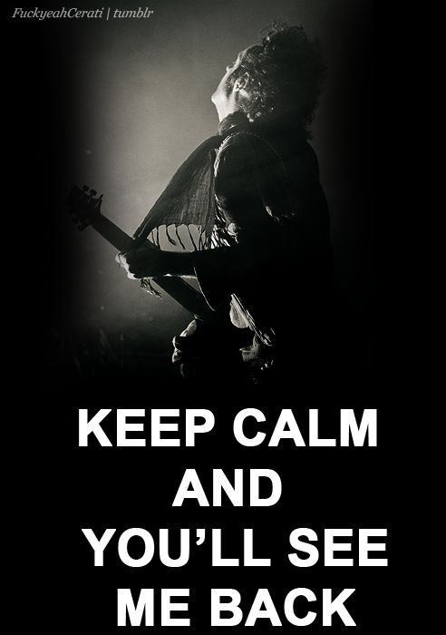 Yeah Cerati, i'll see you back here ...