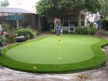 Putting Green Back Yard