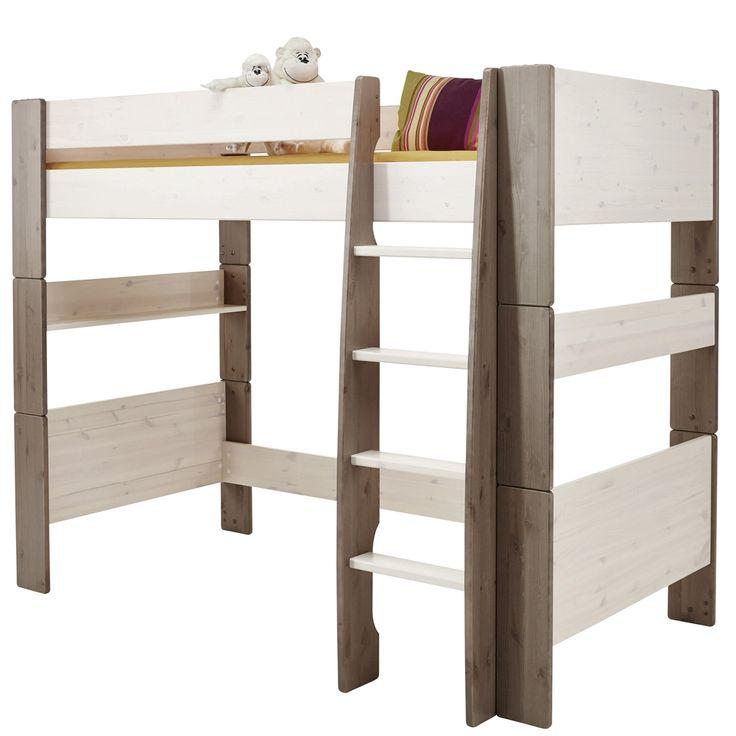 Epic Hochbett For Kids xcm Kiefer massiv White Wash Stone Jetzt bestellen unter https moebel ladendirekt de kinderzimmer betten hochbetten uid udfe