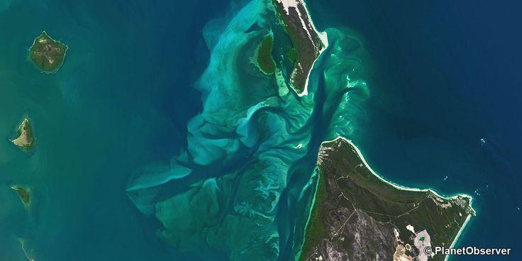 Moreton Bay, Brisbane, Australia - PlanetSAT 15 L8 satellite image