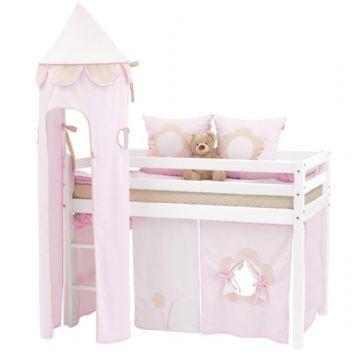 Loftsäng 70x190 cm - Hoppekids Fairytale Flower Säng 102804 Shop - Eurotoys - Barnmöbler online