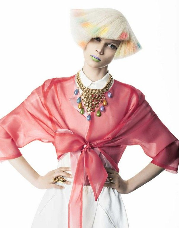 hair trend collections / парикмахерские тренды / стрижки, прически, окрашивания волос » Vivienne Mackinder коллекция 2014 Pastel Edge