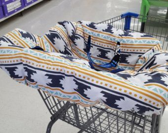 Shopping Cart Cover, Shopping Trolley Liner, Shopping Cart Cover for Baby Girl or Baby Boy, and Children. High chair cover, Seat Cover,