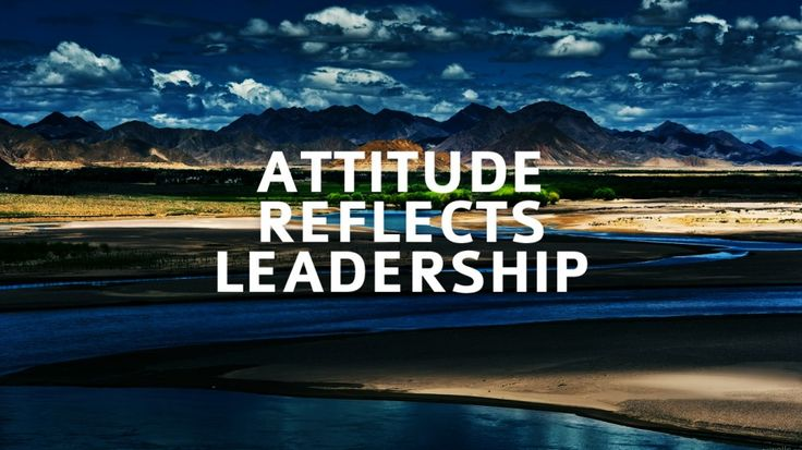 Quote About Success Of The Day » Attitude Reflects Leadership Quote