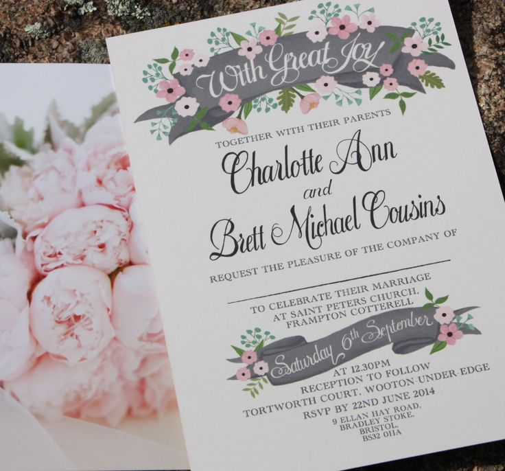 Blush pink wedding invitation Ask us how