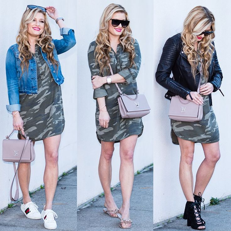 Spring Camo Dress {on sale under $50}: Worn 3 Different Ways!